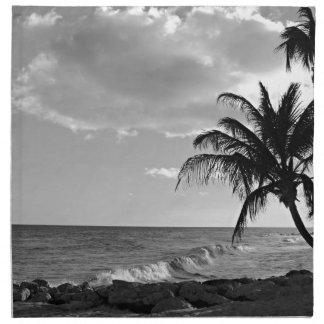 バルバドスのヤシの木のビーチ ナプキンクロス