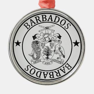 バルバドスの円形の紋章 メタルオーナメント