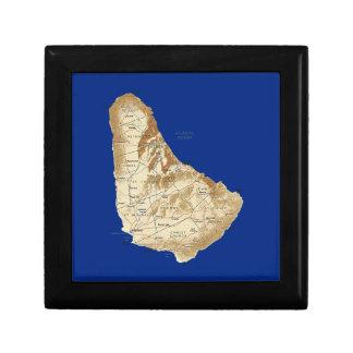 バルバドスの地図のギフト用の箱 ギフトボックス
