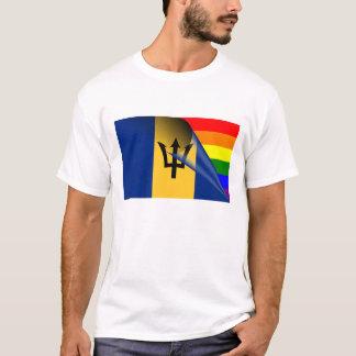 バルバドスゲイプライドの虹の旗 Tシャツ