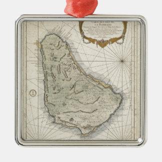 バルバドス(1758年)のヴィンテージの地図 メタルオーナメント