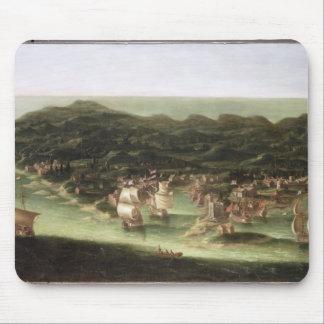 バルバドス、c.1694 (キャンバスの油)の島 マウスパッド