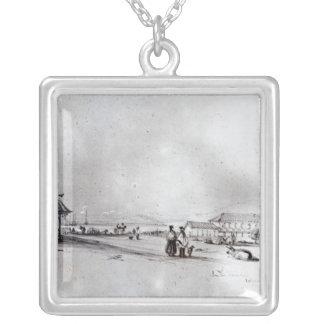 バルパライソ1834年の眺め シルバープレートネックレス