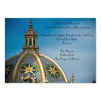 バルボア公園のサンディエゴのモザイクドームの披露宴 カード