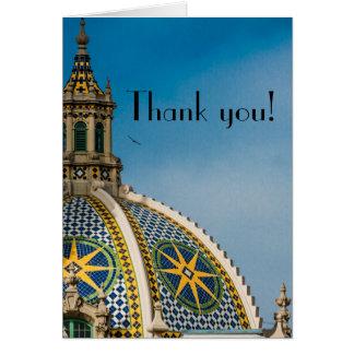 バルボア公園のサンディエゴのモザイクドームは感謝していしています カード