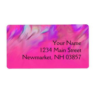 バルミツワーのショッキングピンクおよび紫色のTyeの染料のデザイン ラベル