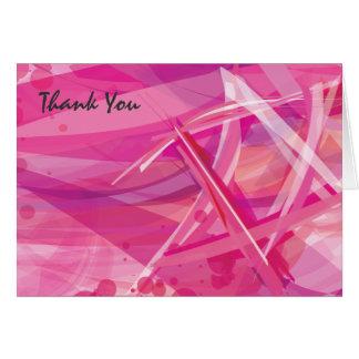 バルミツワーの透明な星ピンクのサンキューカード カード