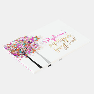 バルミツワーまたはピンクPixDezinesの生命の樹 ゲストブック