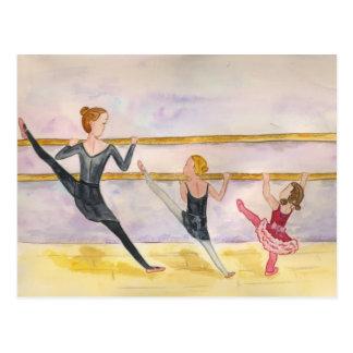 バレエのクラス ポストカード