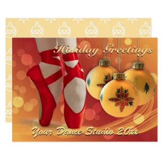 バレエのクリスマスの休日の挨拶 カード
