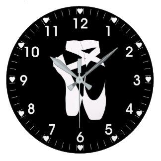 バレエのスリッパ ラージ壁時計