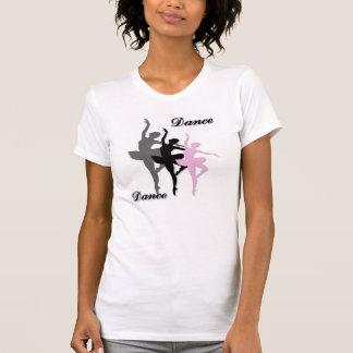 バレエのダンスによって層にされるLadieのTシャツ Tシャツ