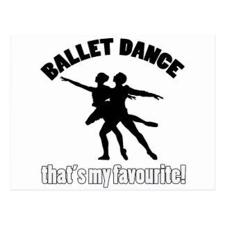 バレエのダンスのデザイン ポストカード