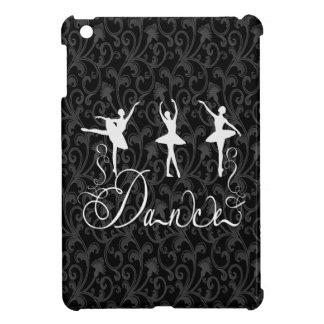 バレエのダンスのブロケードの白黒優雅 iPad MINI カバー