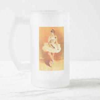 バレエのダンス16のozの曇らされたガラスのマグ フロストグラスビールジョッキ