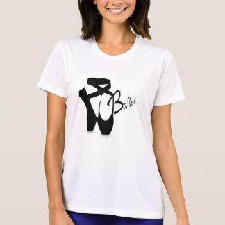 バレエのバレリーナの黒Pointeは競争相手Tに蹄鉄を打ちます Tシャツ