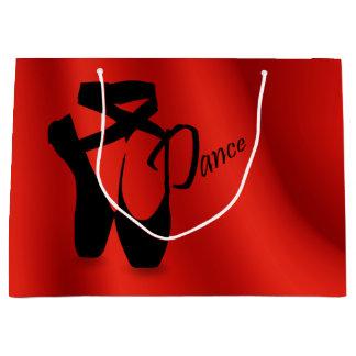 バレエのバレリーナのPointeの靴のダンスLGのギフトバッグ ラージペーパーバッグ