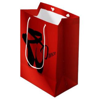 バレエのバレリーナのPointeの靴のダンスMedのギフトバッグ ミディアムペーパーバッグ