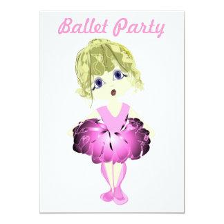 バレエのパーティの招待状 カード