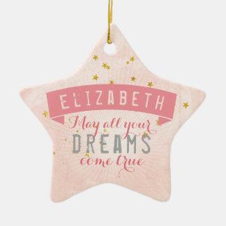 バレエのピンクのベビーの甘美な夢 セラミックオーナメント