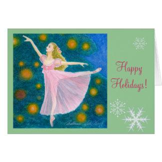 バレエの休日の挨拶-クララ カード