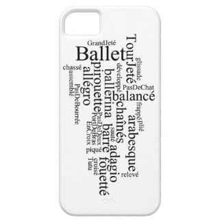 バレエの単語の雲の電話箱 iPhone SE/5/5s ケース