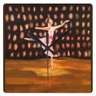 バレエの夢 スクエア壁時計