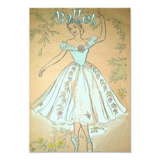 バレエの招待状のヴィンテージの青 カード