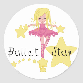 バレエの星のTシャツおよびギフト ラウンドシール