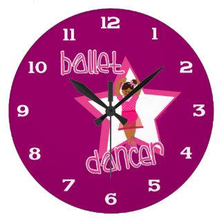 バレエの柱時計 ラージ壁時計