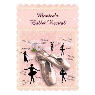 バレエの演奏会の招待状 カード