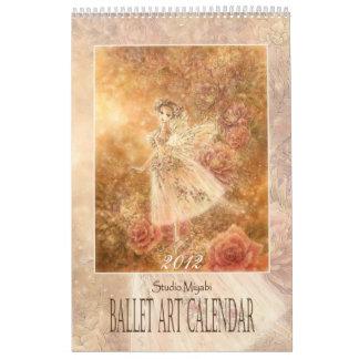 バレエの芸術のカレンダー カレンダー
