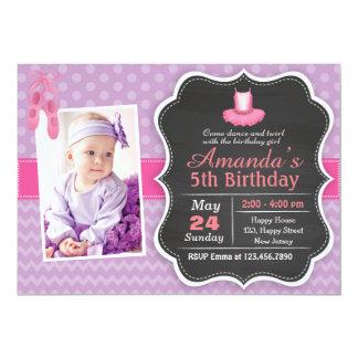 バレエの誕生日の招待状 カード