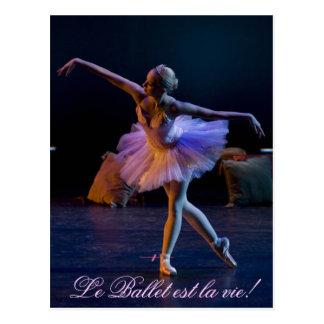 バレエは生命カードです ポストカード
