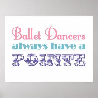 バレエダンサーにpointeのポスター/プリントが常にあります ポスター