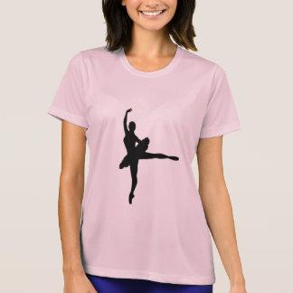 バレエダンサーのアラベスク(バレリーナのシルエット)の~ Tシャツ