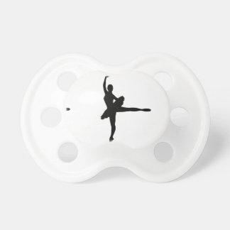 バレエダンサーのアラベスク(バレリーナのシルエット) v2 おしゃぶり