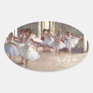 バレエダンサーのガスを抜いて下さい 楕円形シール