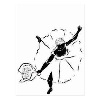 バレエダンサーのシルエット ポストカード