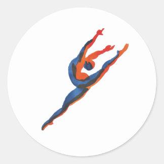 バレエダンサーの跳躍 ラウンドシール