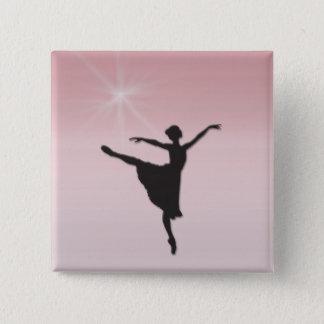 バレエダンサー 5.1CM 正方形バッジ