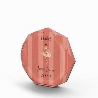 バレエ賞のテンプレート 表彰盾