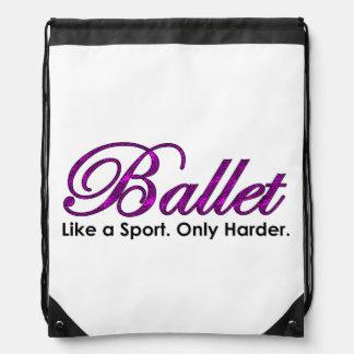 バレエ。 スポーツのように。 懸命ただ ナップサック