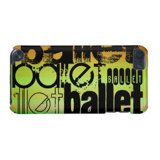 バレエ; 鮮やかな緑、オレンジ、及び黄色 iPod TOUCH 5G ケース
