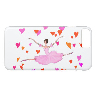 バレエIPHONEカバー、壮大なJETEを跳んでいるバレリーナ iPhone 7 PLUSケース