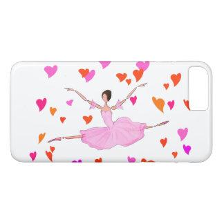 バレエIPHONEカバー、壮大なJETEを跳んでいるバレリーナ iPhone 8 PLUS/7 PLUSケース