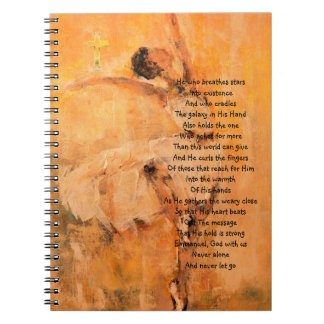 バレリーナが付いている信仰的な祈りの言葉ジャーナル ノートブック