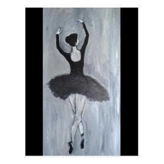 バレリーナのダンサー ポストカード