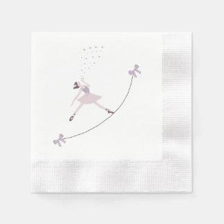 バレリーナのダンスのナプキン 縁ありカクテルナプキン