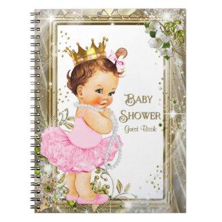 バレリーナのチュチュのプリンセスのベビーシャワーの来客名簿 ノートブック